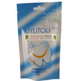 Xylitol with Cherry-Cola flavor, 100 g to 1 kg.
