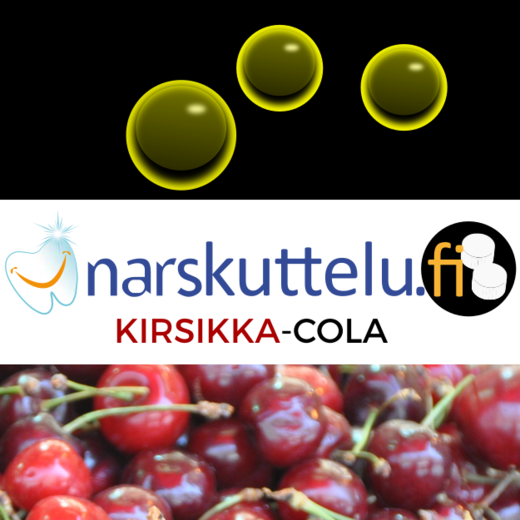 Xylitol with Cherry-Cola flavor, 100 g to 10 kg.