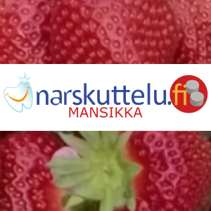Xylitol with natural strawberry flavor, 100 g to 10 kg.